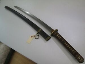 Old Japanese Wwii Samurai Sword With Scabbard Old Blade Unsigned