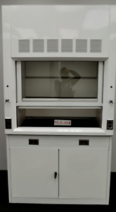 Vented Ducted Laboratory Fume Hood 4 Foot W Two Door Cabinet Surplus