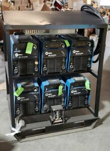 Miller Xmt304 Cc cv 6 pack Multioperator Rack 6 Pack Xmt 304 Fully tested