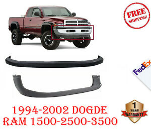 New Front Bumper Cover Valance Combo Kit 1994 2002 Dodge Ram 1500 2500 3500