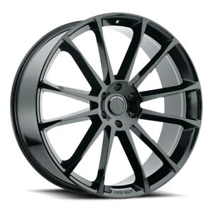 26 Inch 26x10 Status Goliath Gloss Black Wheel Rim 6x135 30