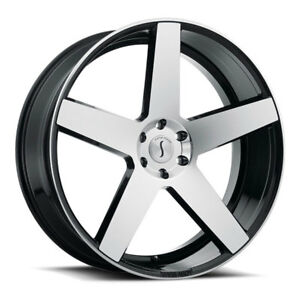 26 Inch 26x10 Status Empire Black Machined Wheel Rim 5x115 15
