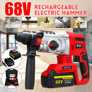 68v Electric Cordless Demolition Jack Hammer Impact Drill Concrete Breaker Punch