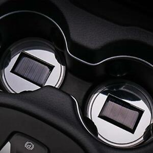 2pcs Car Accessories Solar Cup Pad Led Car Interior Light Decoration Lights New