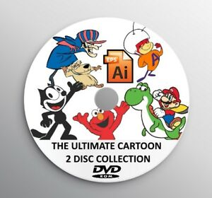 2 dvd 12 300 Ultimate Vector Cartoon Collection Clip Art Eps Ai Printable Vinyl