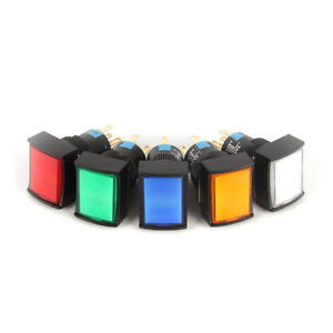10pcs 16mm Self locking With Light Button Power Stop Switch K16 391
