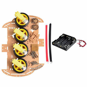1pcs 4wd Smart Robot Car Chassis Kit For Arduino Ultrasonic Tracking Module Tool
