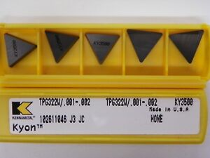 85 Pieces Of Kennametal Tpg 322 Ky3500 Ceramic Inserts C303