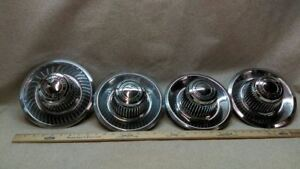 Set Of 4 Oem 60 70 S Chevrolet Motor Division Chrome Center Caps Rally Wheel F44