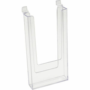 Econoco Clear Literature Holder For Slatwall 4in X 9in Model im sw49