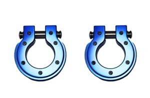8804b 2 All Sales Blue D Ring Round Shape Set Of Two