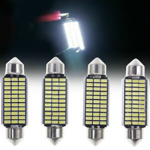 4x 42mm White 33smd Led Festoon Canbus Interior Dome Map Light Bulbs 6411 578 Us