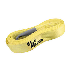 Mile Marker 19330 Nylon Recovery tree Tow Strap 30 Long W 30 000 Lbs Capacity