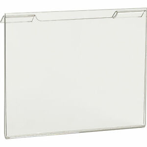 Econoco Horizontal Signholder For Slatwall Or Wire Grid Panels 7inwx5 1 2inh