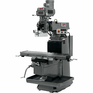 Jet Milling Machine W 3 axis Acu rite G 2 Millpower Cnc 12inx54in 230 460v