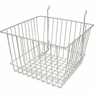Econoco Multi fit Deep Basket For Slatwall Grid Or Pegboard 12inwx12indx8inh