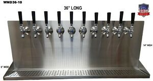 Wall Mount Beer Dispenser 10 Faucets steel Draft Beer Tower Made In Usa wmd36 10