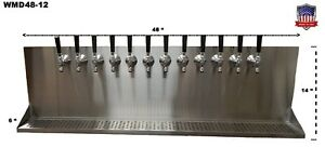 Wall Mount Beer Dispenser 12 Faucets steel Draft Beer Tower Made In Usa wmd48 12