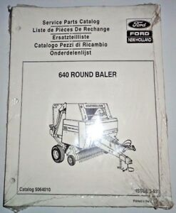 New Holland 640 Round Baler Parts Catalog Manual Book 3 93 Nh Original