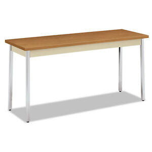 Hon Utility Table Rectangular 60 inch Wide X 20 inch Deep X 29h Harvest putty