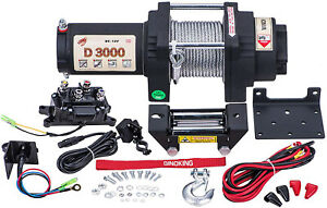Sinoking 3000lbs Electric Winch 12v Steel Cable Atv Off Road High Speed