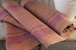 Hemp Fabric Antique Dyed Table Stair Runner Natural Hand Woven 4 5 Yards Textile
