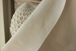 Antique French Linen Sheet Homepun Old 79x112 Linen Homespun White Jv