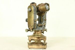 Transit Or Theodolite Antique Brass Surveyor Cooke York England 29415