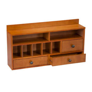 Oakridge Shaker Desktop Organizer Mail Rack With Drawers Honey Shaker Desk