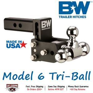 Ts10047b B W 3 Drop Tow Stow Adjustable Tri Ball Mount For 2 Receiver Hitch