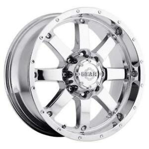 18 Inch 18x9 Gear Alloy 726c Big Block Chrome Wheel Rim 8x6 5 8x165 1 18