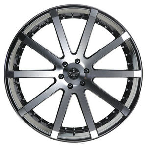 26 Inch 26x10 Versante Ve232 Machined Black Wheel Rim 6x5 5 6x139 7 30