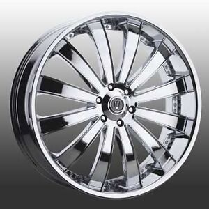 26 Inch 26x9 5 Versante Ve225 Chrome Wheel Rim 5x120 15