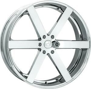 26 Inch 26x10 Ravetti Chrome Wheel Rim 6x5 5 6x139 7 25