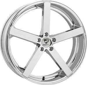 20 Inch 20x8 5 Ravetti Chrome Wheel Rim 5x4 5 5x114 3 38