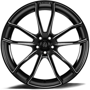 20 Inch 20x10 5 Lenso Cqe Gloss Black Milled Wheel Rim 5x4 5 5x114 3 25