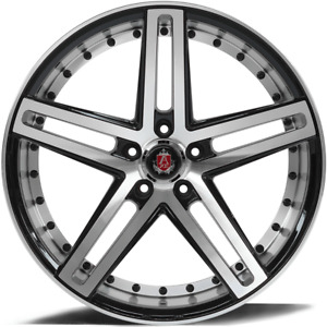 22 Inch 22x9 And 22x10 5 Staggered Axe Ex20 Machined Face Wheels Rims 5x112 35