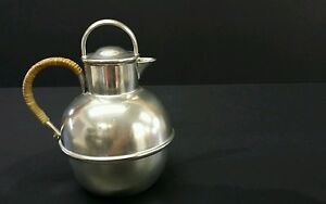 Danish Queen Pewter Brooklyn Ny Guernsey Jug Lid Wrap Handle 1900 1940 Art Deco
