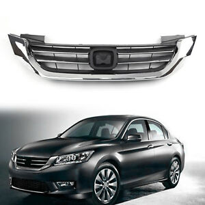 New Front Bumper Radiator Upper Chrome Grill For Honda Accord 2013 2014 2015 Py