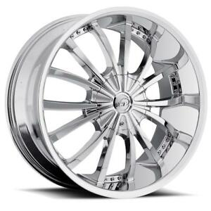 26 Inch 26x10 Vct Mancini Chrome Wheel Rim 5x5 5 5x139 7 15