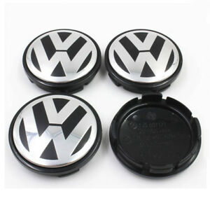 4 Pcs 65mm Wheel Center Hub Caps Cover Badge Emblem For Vw Free Shipping