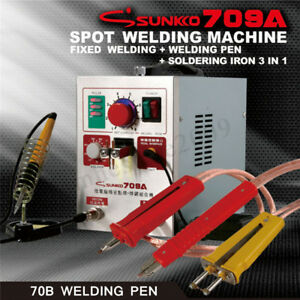 709a 2 In 1 1 9kw 500a Battery Spot Welder Mobile Welding Pen Soldering Iron