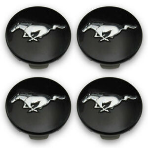 Ford Oem Black Wheel Center Caps Fr3c1a096ab Fr3c1a096ac Mustang Set Of 4