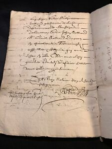 Antique Contract Between Nobles 1647 16 Pages