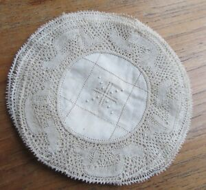 12 Antique Embroidery Flanders Lace Doilies Coasters Fine Work