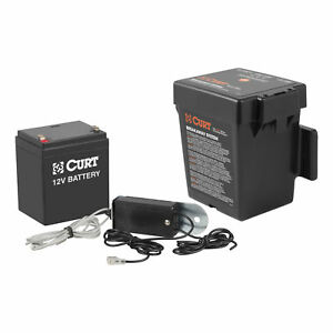 52044 Curt Push To Test Electric Trailer Brakes Breakaway Kit Top Load Battery