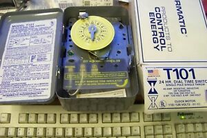 Intermatic T101 Heavy Duty Mechanical Time Switch 40a Spst 125v