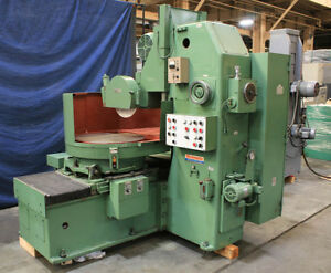24 Chk 10hp Spdl Okamoto Prg 6 New 1984 Rotary Surface Grinder Auto Idf Aut