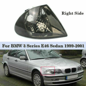 Corner Light Turn Signal Lamp Passenger Side Smoke Fits Bmw E46 Sedan 1999 2001