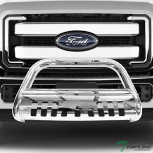 Topline For 2011 2016 F250 F350 Bull Bar Bumper Grill Grille Guard Stainless